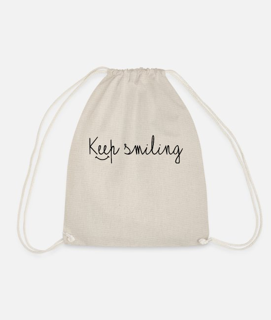 "New Bags & Backpacks - ""Keep smiling"" - Drawstring Bag nature"