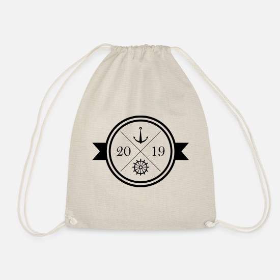 Sailboat Bags & Backpacks - North Sea | 2019 | Baltic Sea - Drawstring Bag nature
