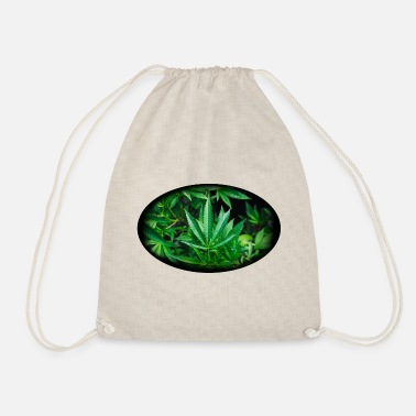 Cannabis naturellement ovale - Sac à dos cordon