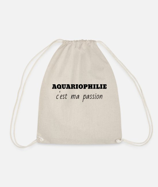Nature Bags & Backpacks - Fishkeeping Fish Aquaristik Aquarium Aquariophilie - Drawstring Bag nature