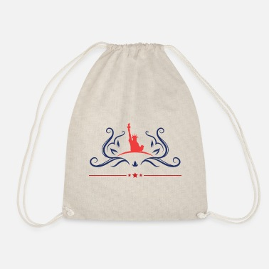 American freedom associated with USA flag46 - Drawstring Bag