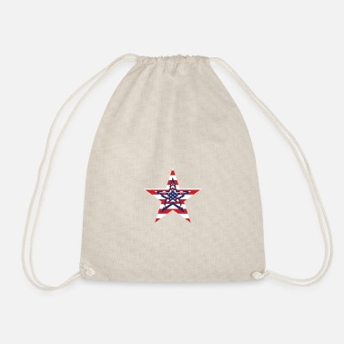 American freedom associated with USA flag50 - Drawstring Bag