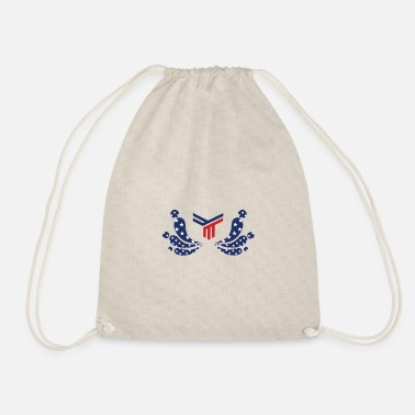 American freedom associated with USA flag47 - Drawstring Bag