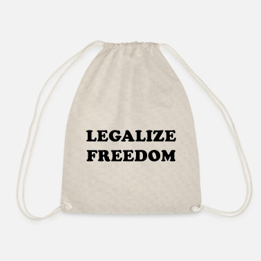 Liberty Legalize Freedom, know your rights - Drawstring Bag
