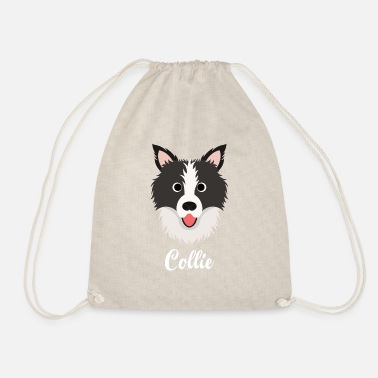 Collie Collie - Border Collie - Drawstring Bag