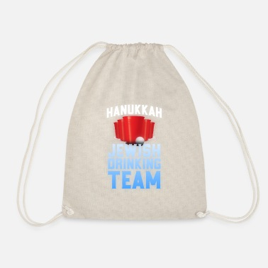 Jewish Hanukkah Jewish Drinking Team Jewish Holiday - Drawstring Bag