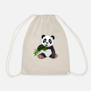 Susser Panda Bar Geschenk Bambus Cartoon Niedlich Turnbeutel