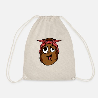 Root Crop Potato Bandana T-Shirt Funny Root Crop Yam Potato - Drawstring Bag