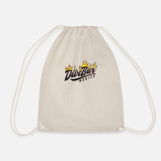 "Birthday Bags & Backpacks - DiveBar ""flames"" - Drawstring Bag nature"