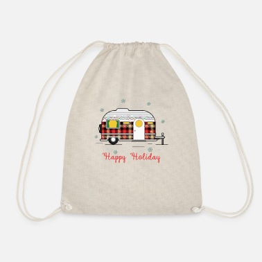 Holiday Happy Holiday Caravan - Drawstring Bag