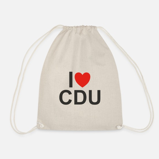 Cdu Bags & Backpacks - I love CDU - Drawstring Bag nature