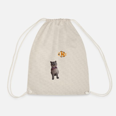 Cat Cat Fish Fish Gift GIFT Gift Idea - Drawstring Bag