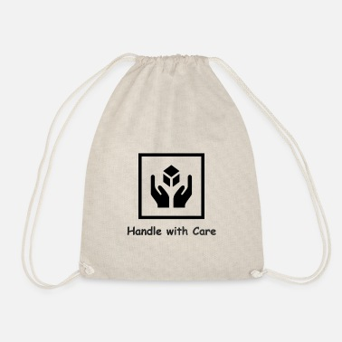 Handle with Care - Drawstring Bag