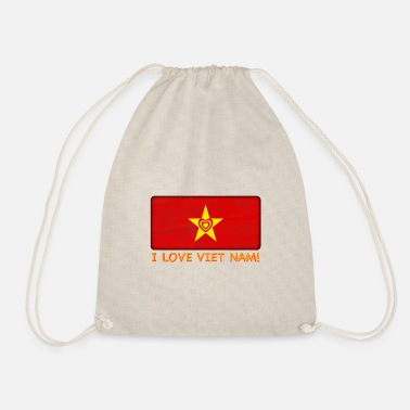 Viet Nam - I Love Viet Nam Flag - Drawstring Bag