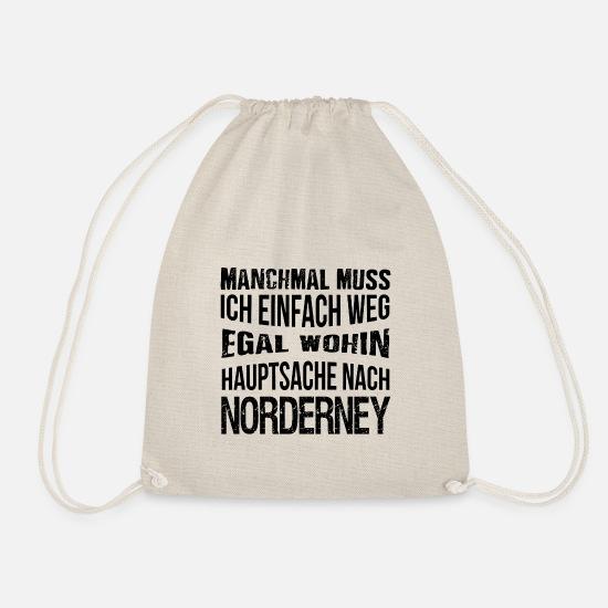 b9e1731d943f9 Norderney Taschen   Rucksäcke - Hauptsache nach Norderney - Urlaub - reisen  - Turnbeutel Natur