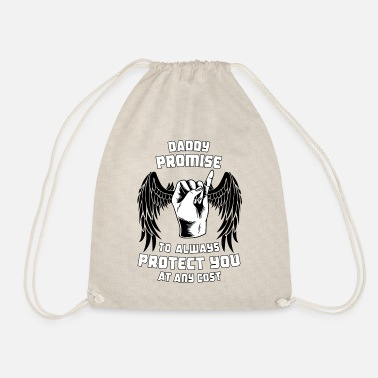 Daddy Promise to Protect His Daughter - Drawstring Bag