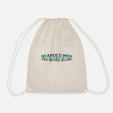 Mustache beard - Bearded men are never alone - Drawstring Bag