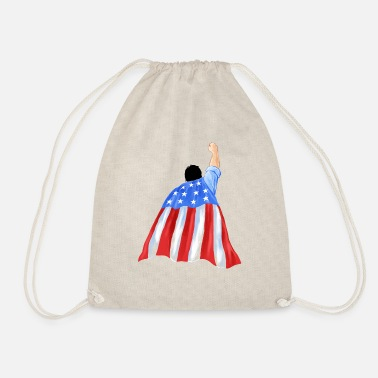 Strong American Man Strong American Man - Drawstring Bag