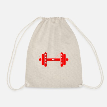 Bino92 No pain no gain - Drawstring Bag