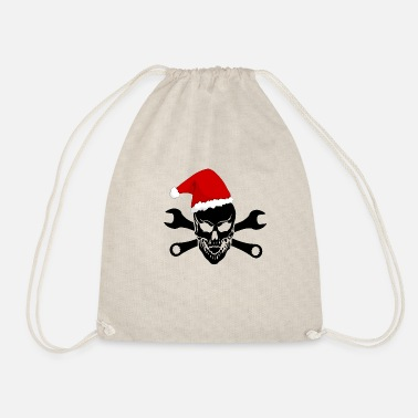 Skull Skull and Crossbones Christmas Gift - Drawstring Bag