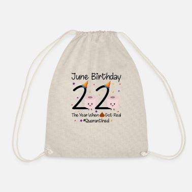 Birthday June Birthday 2020 Quarantined - Drawstring Bag