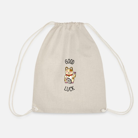 Gift Idea Bags & Backpacks - Good luck Manekineko - Drawstring Bag nature