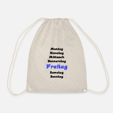 End Of The Week Week sw Friday blue - Drawstring Bag