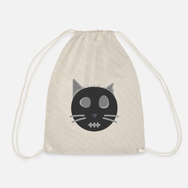 scary cat - Drawstring Bag