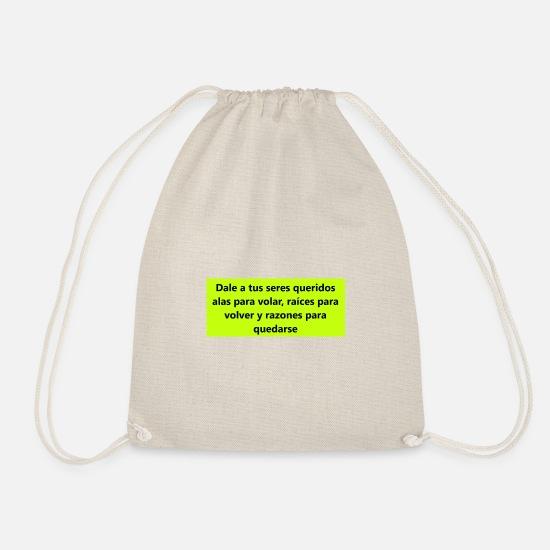 Pickup Line Bags & Backpacks - SENTENCE - Drawstring Bag nature