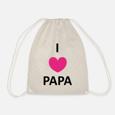 Daddy I love Papa | Vatertag Vater Papi dad daddy - Turnbeutel