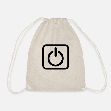 Key Button Power Button Start Key power button icon button - Drawstring Bag