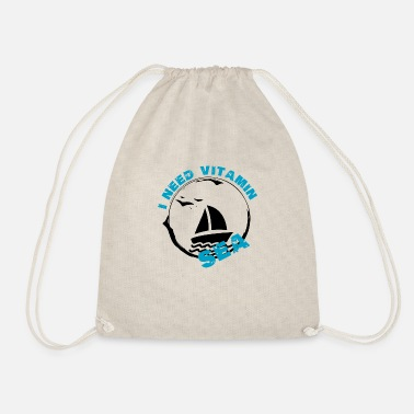 Sailing Sailing Vitamin Sea - Drawstring Bag