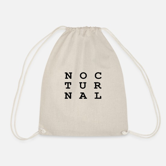 Nocturnal Bags & Backpacks - Nocturnal.. - Drawstring Bag nature