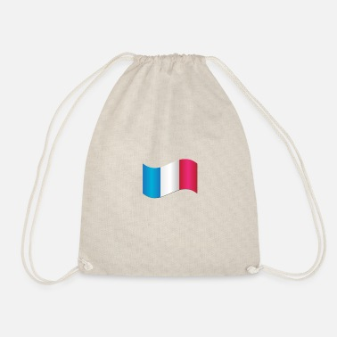 Flag French flag - Drawstring Bag
