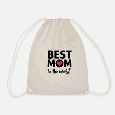 best mom in the world - Drawstring Bag
