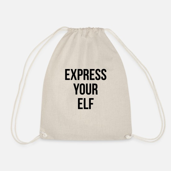 Funny Bags & Backpacks - Express your elf - Drawstring Bag nature