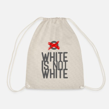 White white not - Drawstring Bag