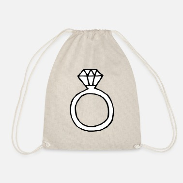Ring Ring | Finger ring | Diamond ring - Drawstring Bag