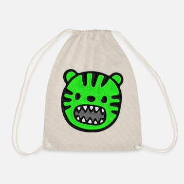 Stitch Tiger green stitched look - Drawstring Bag