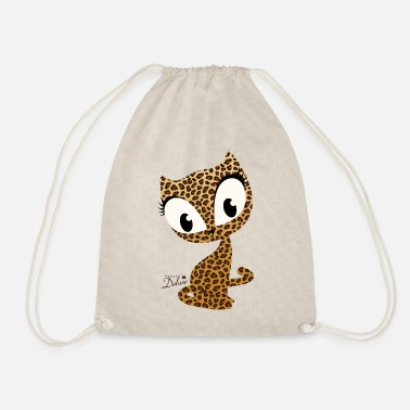 Pussy Deluxe Leopard Print Cat - Drawstring Bag
