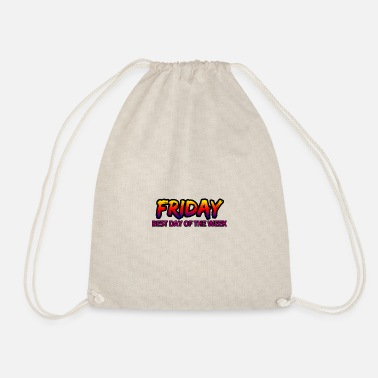 Day Of The Week Friday's best day of the week - Drawstring Bag