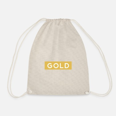 Gold gold - Drawstring Bag