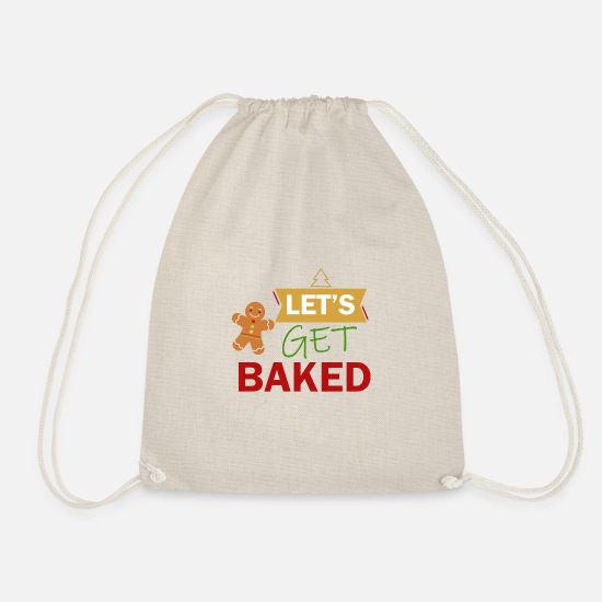 Birthday Bags & Backpacks - Baking Christmas cookies Christmas baking - Drawstring Bag nature