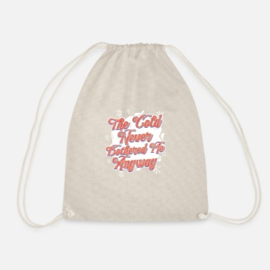 Winter Cold weather winter holiday gift - Drawstring Bag