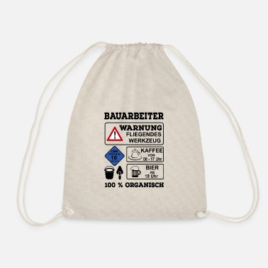 Construction Worker construction worker - Drawstring Bag