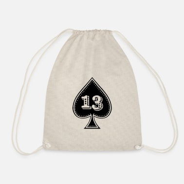 Ace Of Spades rocker design Ace of Spades with number 13 - Drawstring Bag