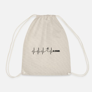 Heartbeat Runner Marathon - Drawstring Bag