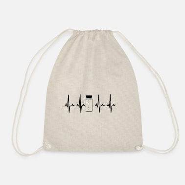 Anabolic Steroids Heartbeat Steroids Anabolic Steroids White - Drawstring Bag