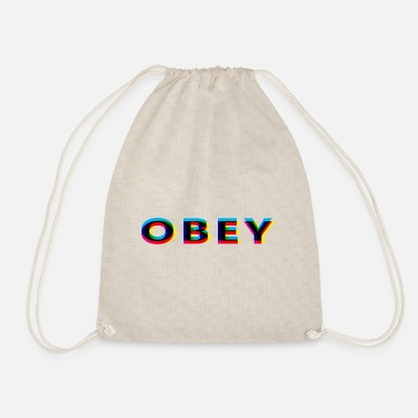 Anaglyph Obey Anaglyphic - Drawstring Bag