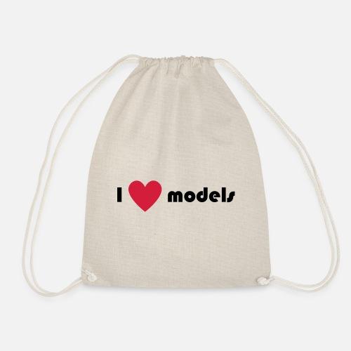 0a2bb396972 I love models Drawstring Bag   Spreadshirt